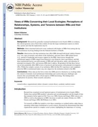 thumnail for Klitzman_Views of IRBs Concerning their Local Ecologies.pdf