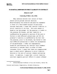 thumnail for Scott_-_Defense_of_Strict_Liability_in_Contract.pdf