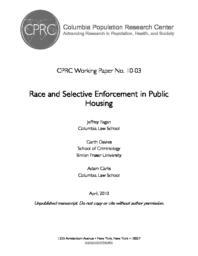 thumnail for Fagan_CPRC_WPS_10-03.pdf