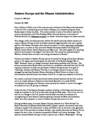 thumnail for Eastern_Europe_and_the_Obama_Administration.pdf