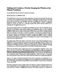 thumnail for Making_Job_Creation_a_Priority_Keeping_the_Wheels_on_the_Obama_Presidency.pdf