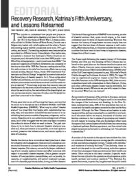 thumnail for RecoveryResearch_KatrinaAnniversary_LessonsRelearned.pdf