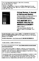 The Anatomy of a Murder: Who Killed America\'s Economy? - Academic ...