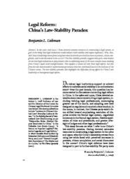 thumnail for Legal_Reform_China_s_Law_Stability_Paradox_PDF_plus.pdf