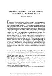 thumnail for Trespass_Nuisance_and_the_Costs_of_Determining_Property_Rights.pdf