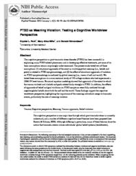PTSD as meaning violation: Testing a cognitive worldview perspective