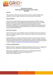 thumnail for Data Release Statement GRID3 NER Settlement Extents V1 Alpha.pdf