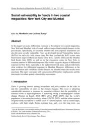 thumnail for de Sherbinin & Bardy 2016 Social Vulnerability to Flood in Two Coastal Megacities_ViennaYearbookPopResearch.pdf