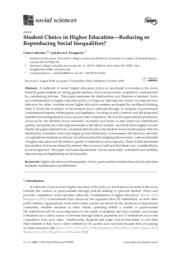 thumnail for Callender & Dougherty - Student Choice in HE — Reducing or Reproducing Social Inequalities 2018.pdf