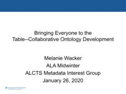 thumnail for Collaborative Ontology Development_ALA_Midiwnter_2020.pdf