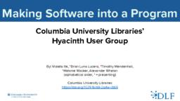 thumnail for Making Software into a Program.pdf