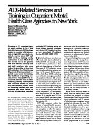 thumnail for AIDS-related services and training in outpatient mental health care agencies in New York.pdf