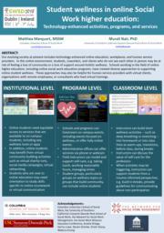 thumnail for Marquart and Nair_Student wellness in online Social Work higher education_poster for SWSD 2018_v2.pdf