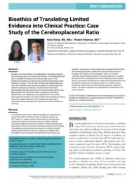 thumnail for Klitzman_Bioethics of Translating Limited Evidence Into Clinical Practice.pdf
