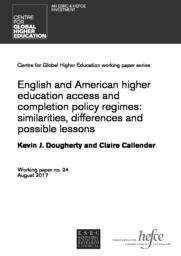 thumnail for Dougherty & Callender - English and US HE access & completion policies 2017.pdf