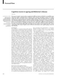 thumnail for Cognitive reserve in ageing and Alzheimers d1.pdf