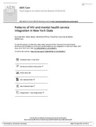 thumnail for Patterns of HIV and mental health service integration in New York State.pdf