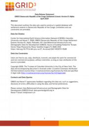 thumnail for Data Release Statement GRID3 DRC Settlement Extents V1 Alpha.pdf