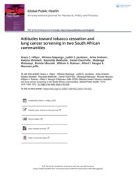 thumnail for Attitudes toward tobacco cessation and lung cancer screening in two South African communities 2020_compressed.pdf