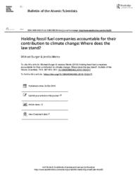 thumnail for Burger-Wentz-2018-11-Holding-fossil-fuel-companies-accountable-for-their-contribution-to-climate-change.pdf