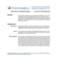 thumnail for Columbia University - Division of Nephrology - Census Tracking Dashboard.xlsx