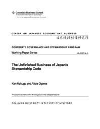 thumnail for CGWP #1.Ogawa & Hokugo.The Unfinished Business of Japan's Stewardship Code.pdf