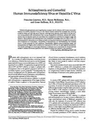 thumnail for Schizophrenia and comorbid human Immunodeficiency Virus or Hepatitis C Virus.pdf