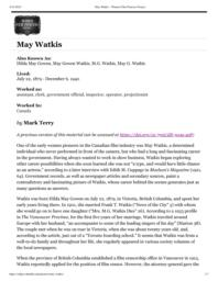 thumnail for May Watkis – Women Film Pioneers Project.pdf