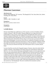 thumnail for Florence Lawrence – Women Film Pioneers Project.pdf