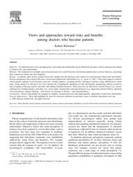 thumnail for Klitzman_Views and approaches toward risks and benefits among doctors who become patients.pdf
