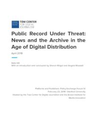 thumnail for PEF IV_ Public Record Under Threat.pdf