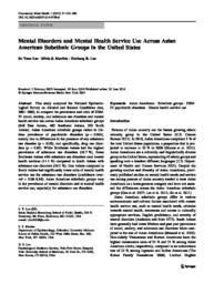 thumnail for Lee_Mental disorders and mental health service use across Asian American subethnic groups in the United States..pdf