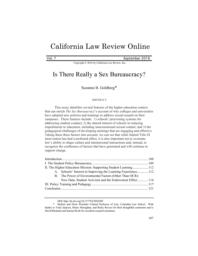 thumnail for goldberg_suzanne_b._-_is_there_really_a_sex_bureaucracy_7_california_law_review_online_107_2016.pdf