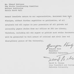 Telegram from Grayson Kirk ...