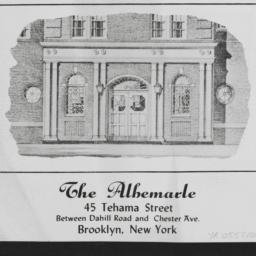 The     Albemarle, 45 Teham...