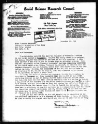 Letter from Eleanor C. Isbell to Florence Anderson, December 14, 1942