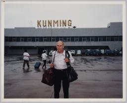 Kunming Airport With Barney Rosset--nov '96