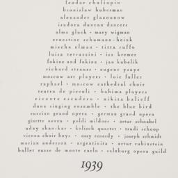 List of artists and compani...