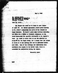 Letter from Florence Anderson to Allison Davis, May 4, 1943