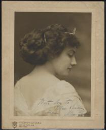 Gentle, Alice, undated : photograph, signed, with note