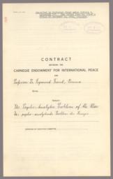 """Contract for """"The Psycho-Analytic Problem of the War"""""""