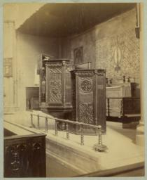 [Church of the Ascension, interior showing pulpit designed by McKim]