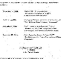 Announcements, 2005-08-19. ...