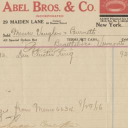 Abel Bros. & Co. Bill or re...