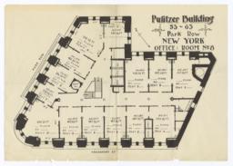 Pulitzer Building, 53-63 Park Row, New York, Office: Room No. 8