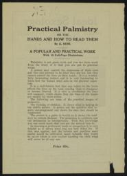 Practical palmistry [...] / by E. Rene [recto]