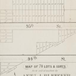 Map of 70 lots & gores to b...