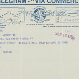 Telegram to Frederick P. Ke...