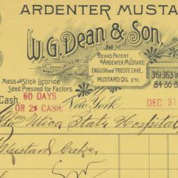 W.G. Dean & Son. Bill or re...