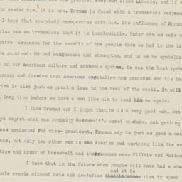 14 April 1945 letter to par...